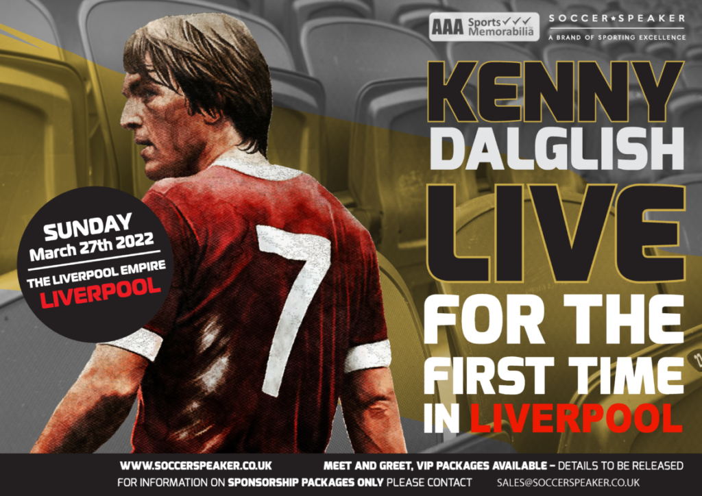 Sir Kenny Dalglish MBE live in Liverpool